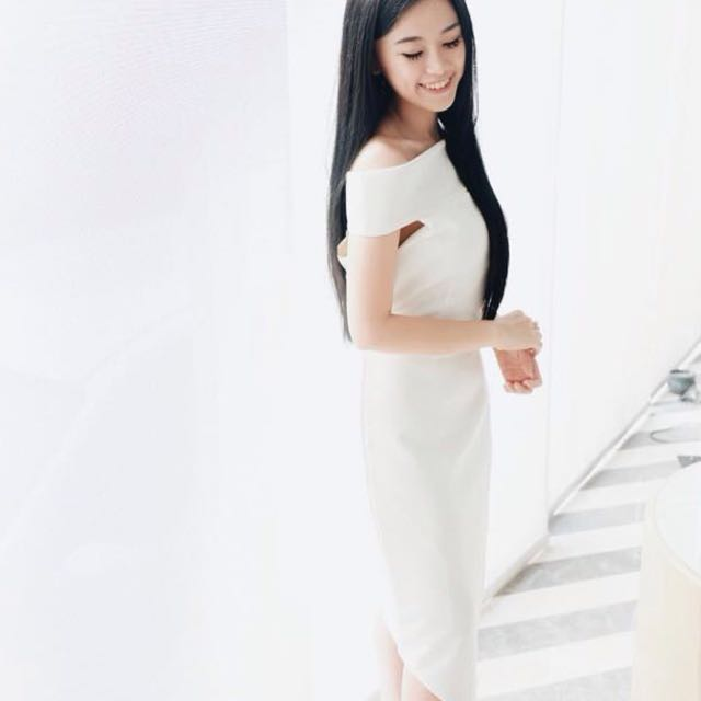 White Sabrina Off Shoulder Dress
