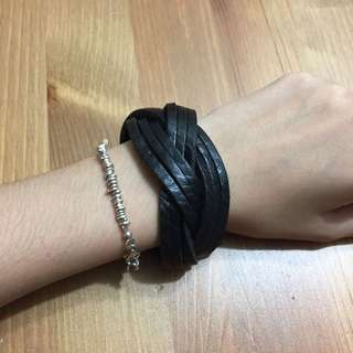 西班牙製牛皮編織手環