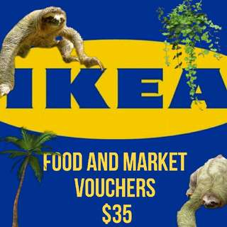 ikea food and swedish market voucher , can spend on everything that can be eaten