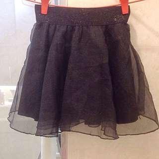 BN black crepe tulle skirt