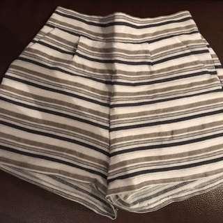 波紋條紋短褲
