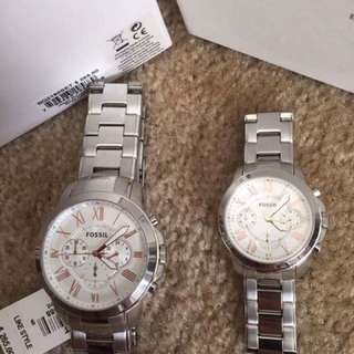 Fossil couple watch onhand