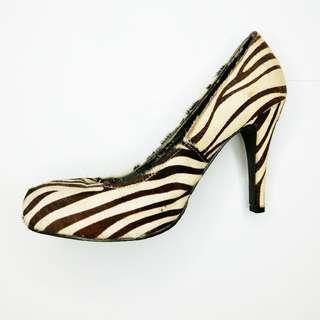 Zebra Printed Heels