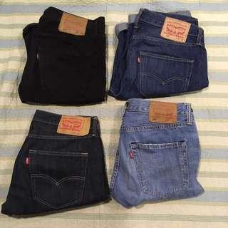 Levis 501 W32 短褲  九成新 少著用 四色 原色 黑色 刷藍 刷白