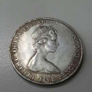 1978年根西島25便士皇家紀念幣