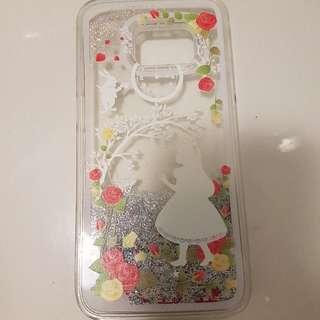 glitter case for s7 alice in wonderland