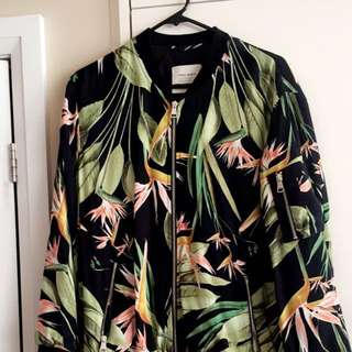 Zara tropical oversized bomber