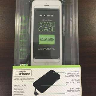 Hype Ultra-Slim iPhone 5/5S MFi Certified Charging Case