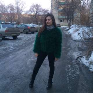 ostrich feather/fur coat