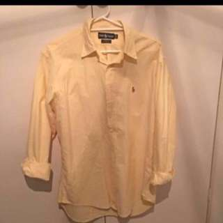 Yellow Ralph Lauren Button Up