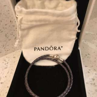 Authentic New pandora Leather Bracelet