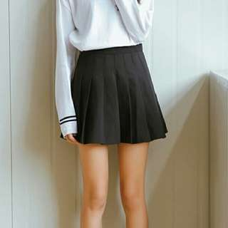 NEW Black Pleated Tennis Skirt with Shorts