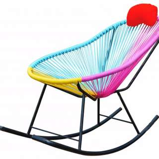 Colorful Rocking Chair (Multicolor)