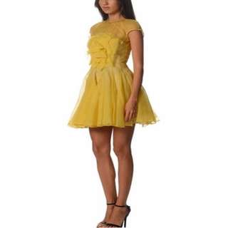 ALEX PERRY CLODIA FRENCH SEAM ORGANZA DRESS