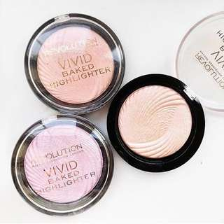 Vivid Baked Highlighters by Makeup Revolution