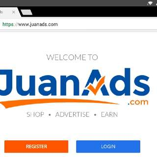 JUANADS free register for online job by clicking ads