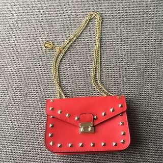 Genuine Anna Luchini Leather Crossbody Shoulder Bag