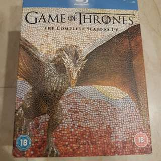 Game of Thrones The Complete Season 1 2 3 4 5 6 Blu Ray Boxset