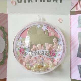 Happy birthday Explosion box Card With Globe