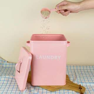 Pink Laundry Rice Tin With Scoop
