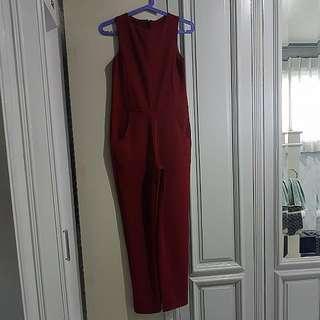 Maroon Jumpsuit
