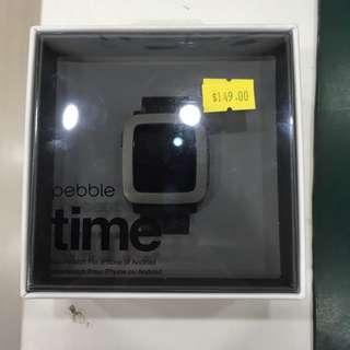 Pebble Time Black Brand New