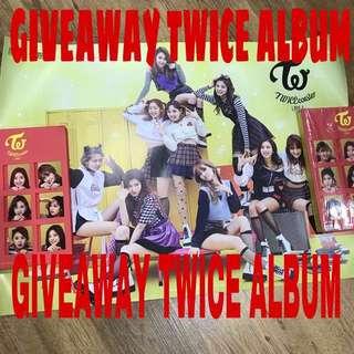 GIVEAWAY TWICE ALBUM