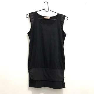 Suede little black dress