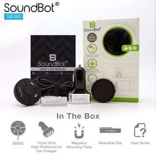 🚚 美國聲霸SoundBot SB360 車用藍牙4.0音樂接收播放,藍牙傳輸器,贈5.1A車用充電器