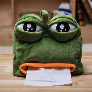 悲傷青蛙紙巾盒套