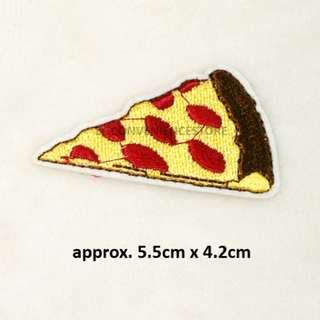 BN Pop Art DIY Fabric Embroidery Iron On / Sew on Applique Patch Badge - Junk Food Pizza