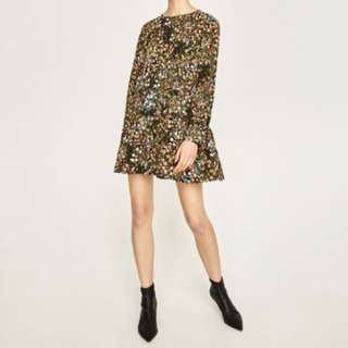 Zara Floral Playsuit Size XS