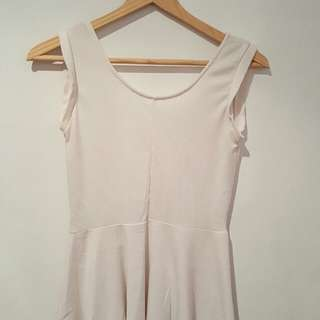 White casual peplum top  (size small)