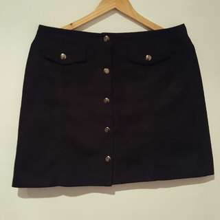 Suede mini skirt (size 10)