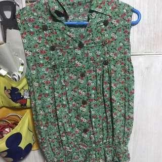 Green blouse (no brands)