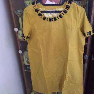 Dress / Atasan kuning by miss'd ( big size )