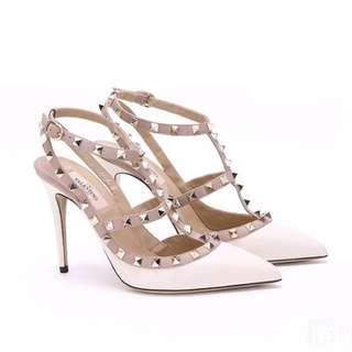 Valentino 白色高跟鞋 38號