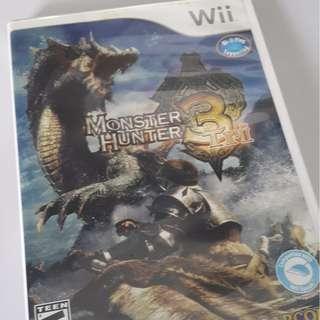 Monster Hunter 3 Wii Original CD