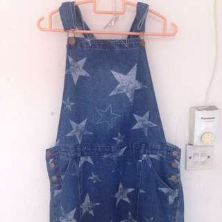 Cotton On Pinafore Skirt in Blue