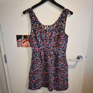 flowers size M short dress