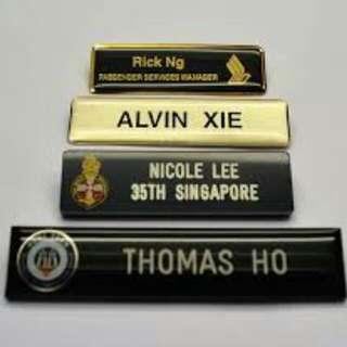 SAF, HTA, SCDF, SIA Name Tag