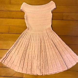 PInk Off Shoulder A Line Dress