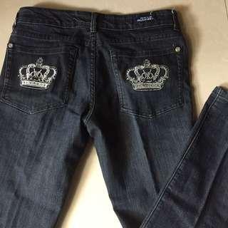 Strech blue jeans pants