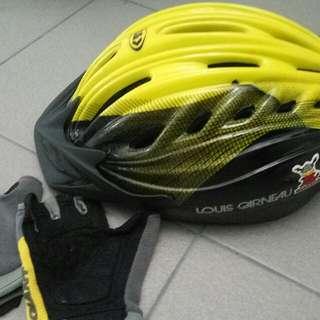 Louis Garneau Bike Helmet and Gloves