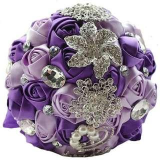 Wedding ribbon hand bouquet