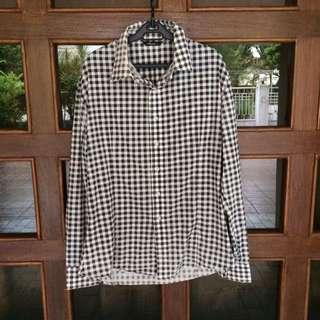 Black & White Checkered Longsleeve