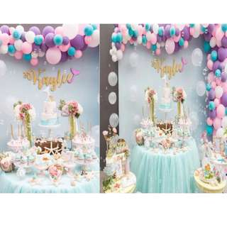 Mermaid - UNDER THE SEA--  Themed Birthday Party (Party Supplies) Pls CHAT with us for the detailed/specific product listing & price.. We Have wide range of stocks pre printed & personalized printables…