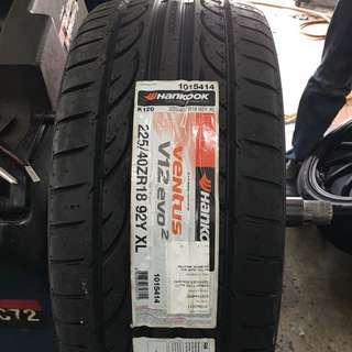 225/40/18 Ventus V12 EVO2 K120 hankook tyre