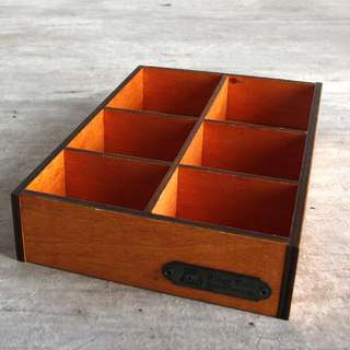 Zakka Wooden Desktop Partition Tray / Party Crate
