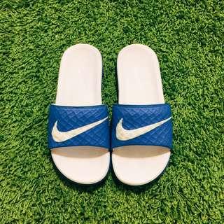 NIKE 經典藍白拖鞋